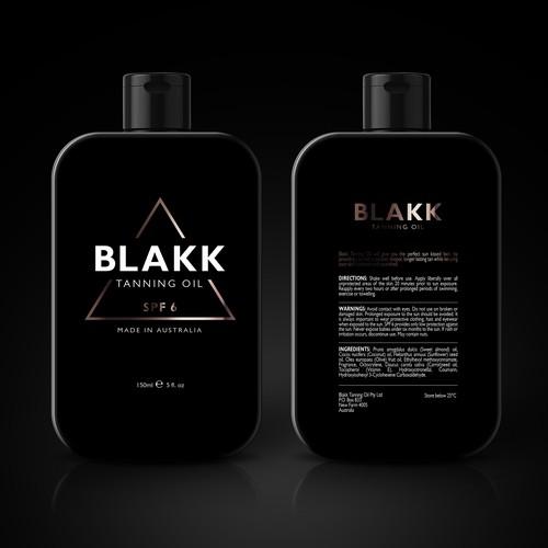 Tanning oil BLAKK