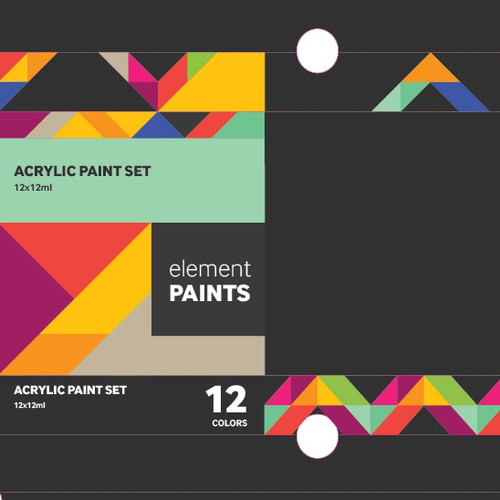 Packaging for Acrylic Paint Set