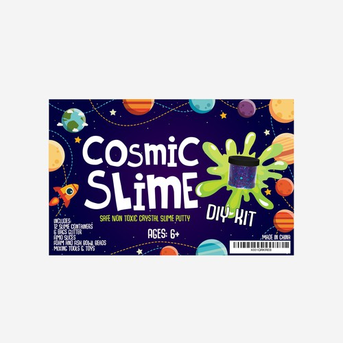 Cosmic Slime Label Design