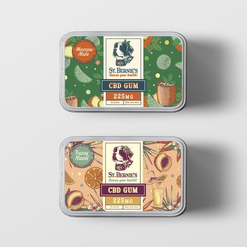 St. Bernie's CBD gum labels
