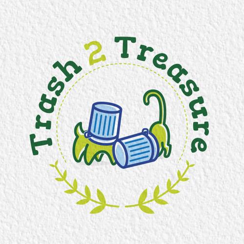 Logo design for Trash 2 Treasure