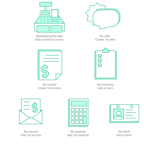 Illustrations for invoicing/bookeeping web app