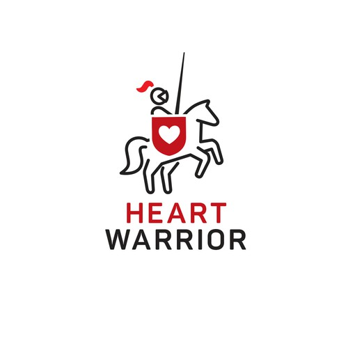 Heart warrior logo