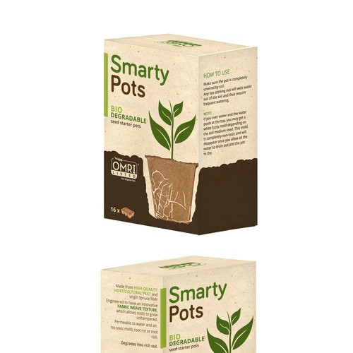 Packaging design for Smarty Pots