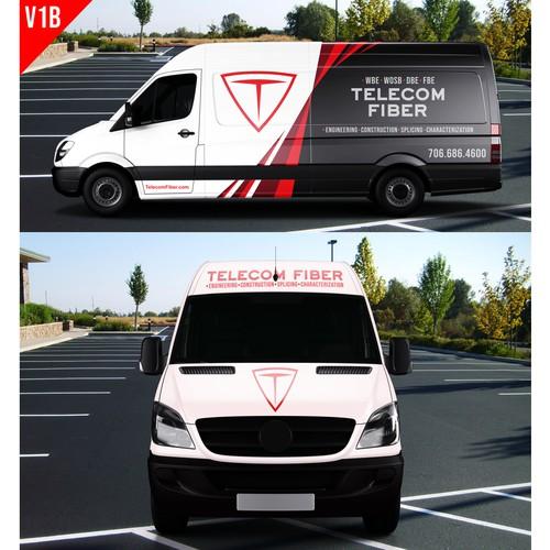 Mercedes Van Design for Fiber Optic Company