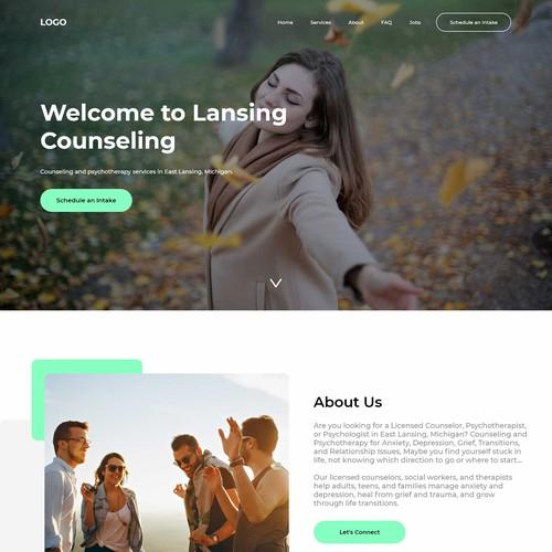 Landing page Design For Lansing Counseling