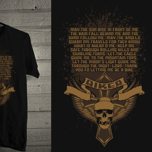 BADASS Chopper Biker T-shirt