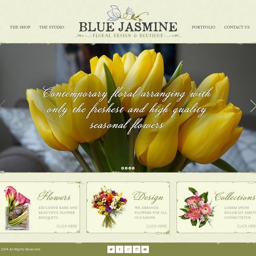 BLUE JASMINE - Floral Design & Boutique Website Design Contest