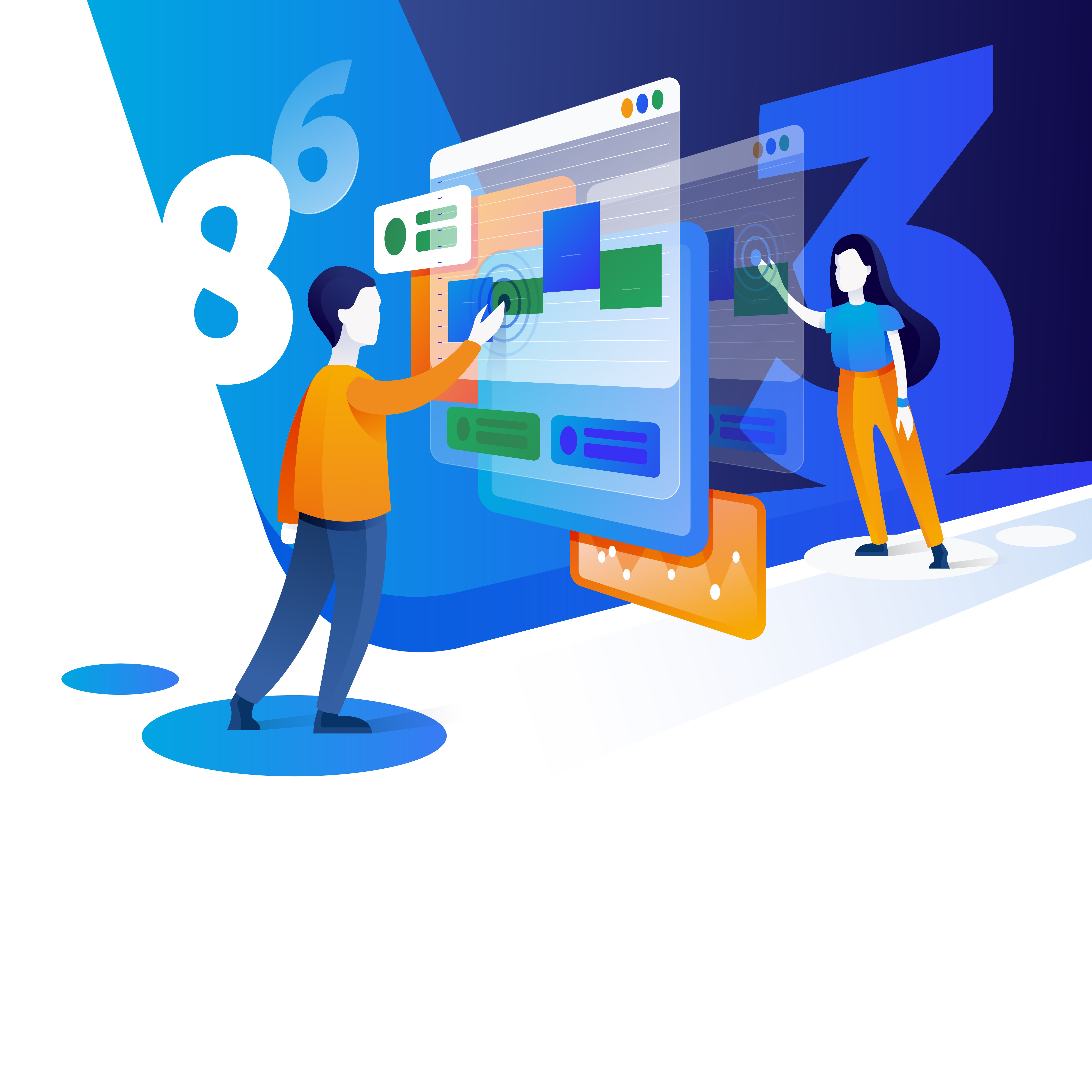Create a web design that illustrates People, numbers and compensation