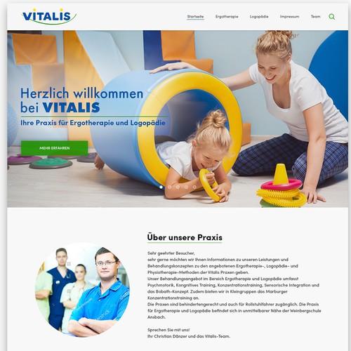 Website redesign for Vitalis: Praxis für Ergotherapie und Logopädie