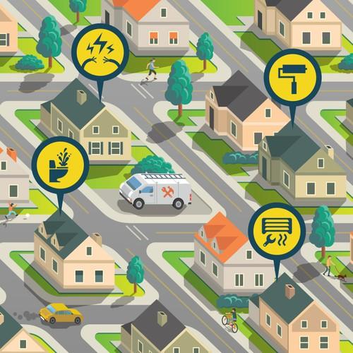 地图/街头插图