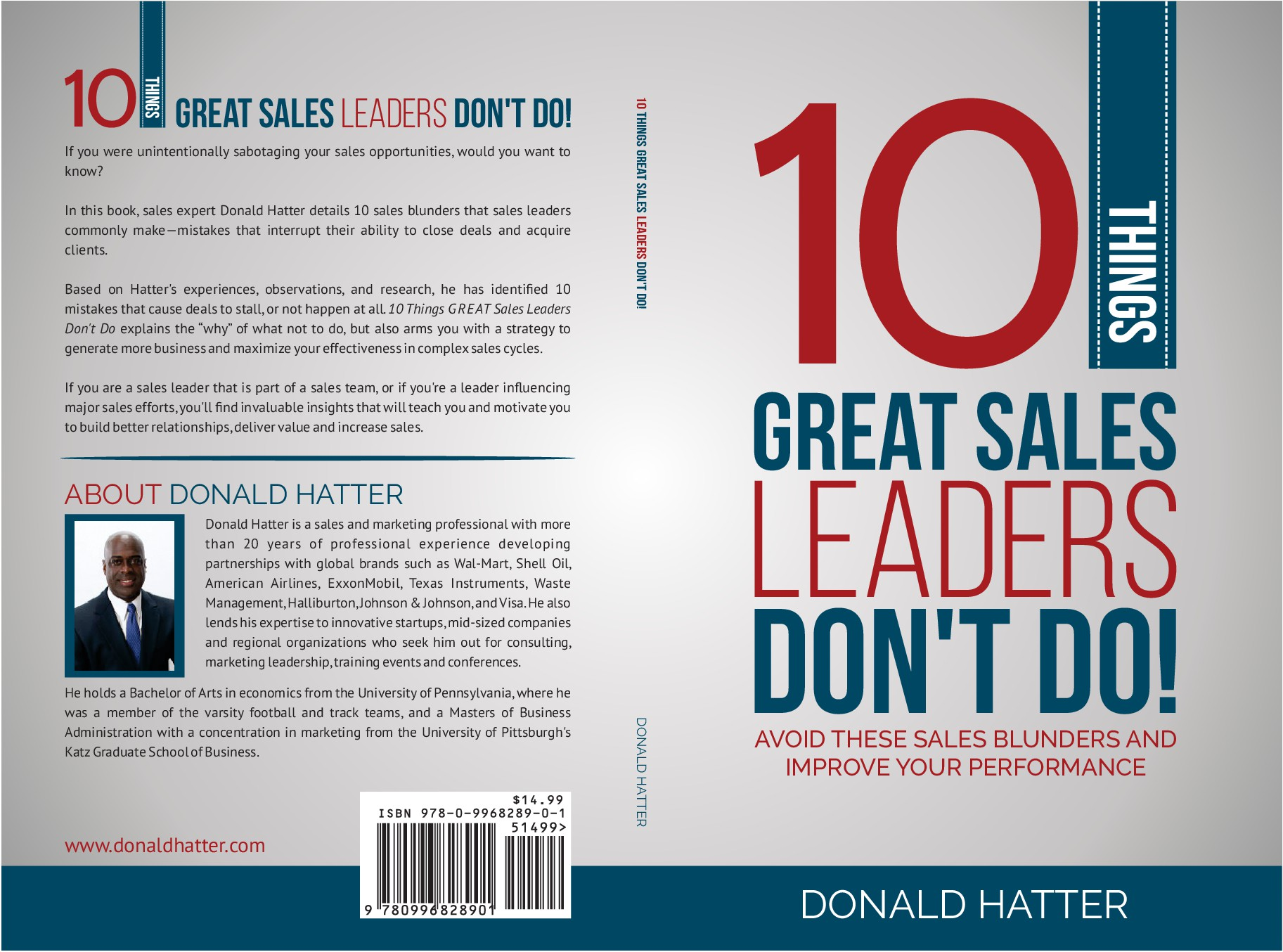 """Create a book cover for """"10 Things Great Sales Leaders Don't Do!"""""""
