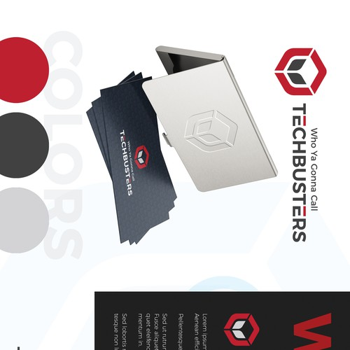 Logo and identity design for TechBusters