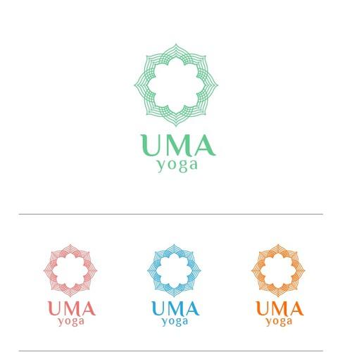 Create a Logo for UMA YOGA