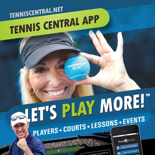 poster for tennis application