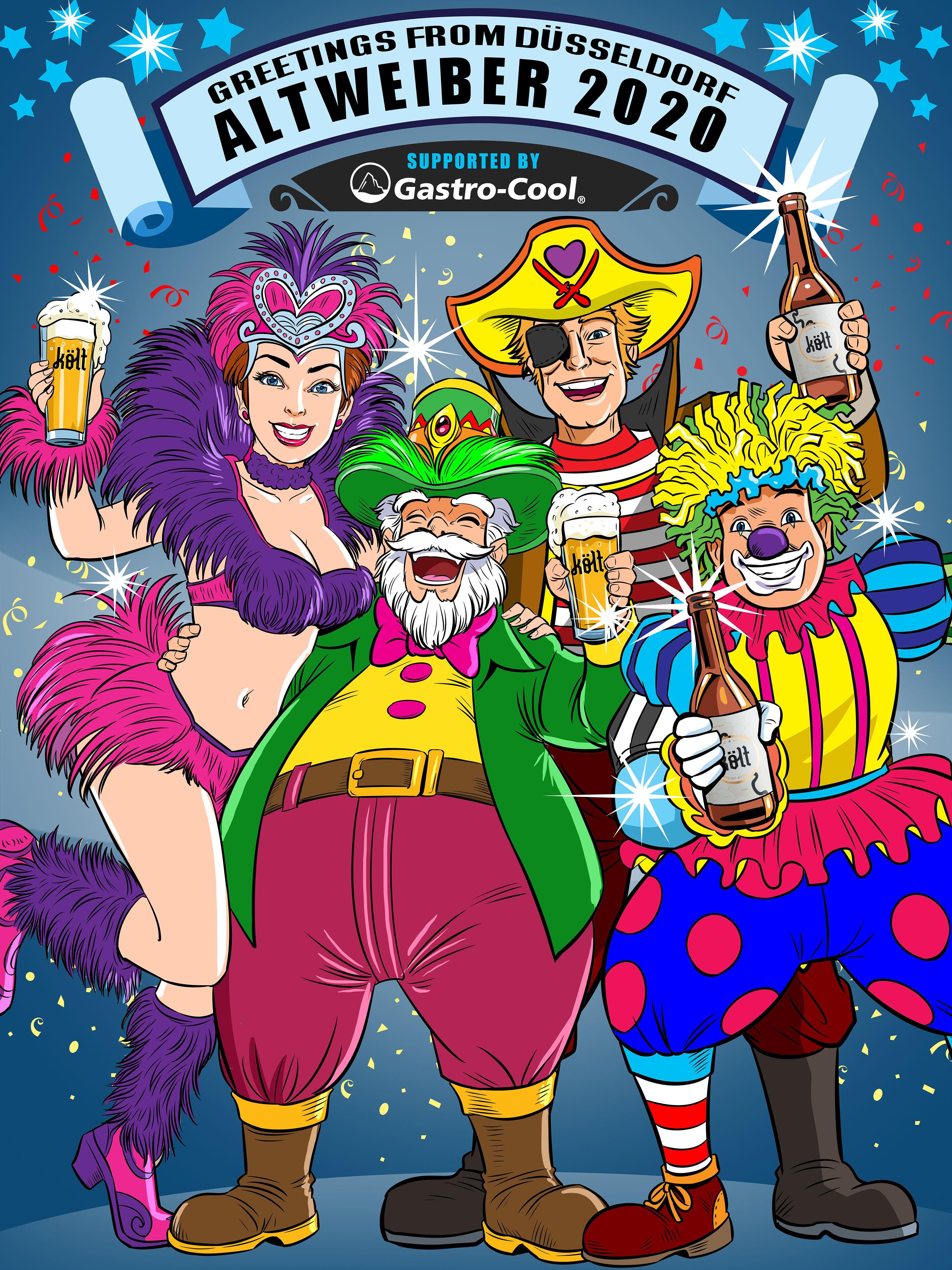 Illustration of crazy street carneval