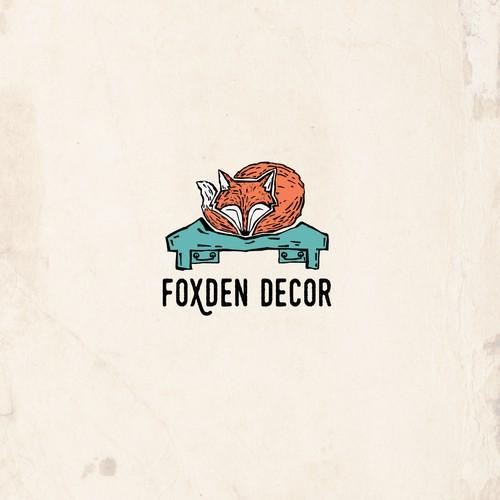 Bold logo for rustic furniture company