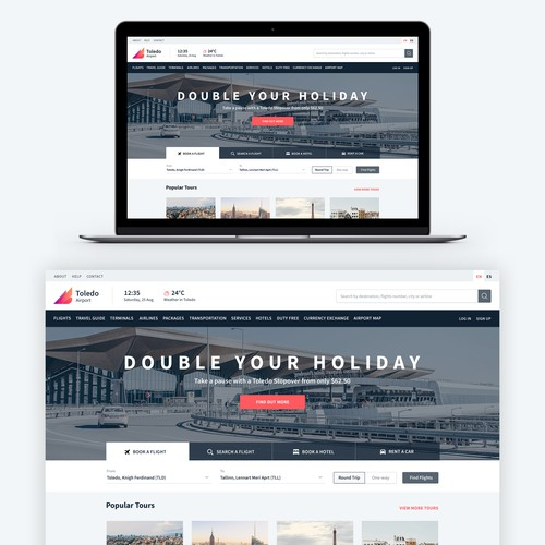 Airport Website Design
