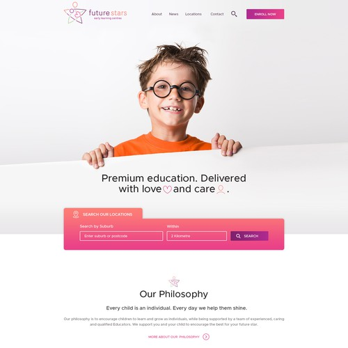 New Modern Webdesign for Childcare Center