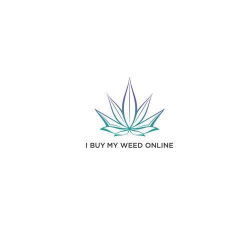 A cannabis leaf and lotus flower in one sexy logo