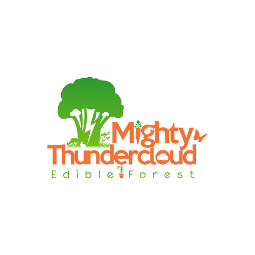 Mighty Thundercloud Playfull Logo