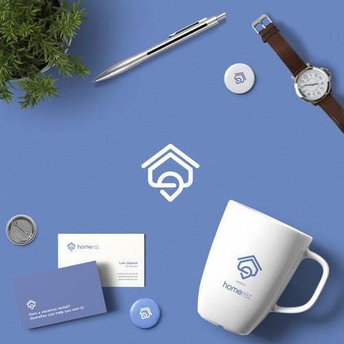 Home-Pin logo combination