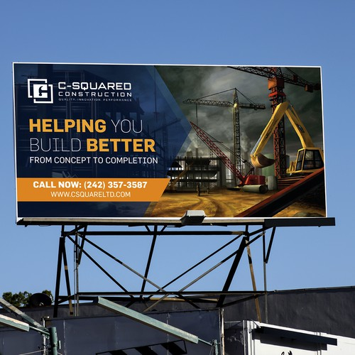 Billboard design for construction company