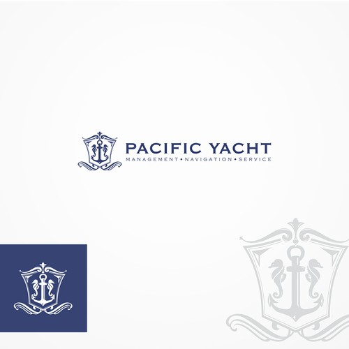 Logo concept for Pacific Yacht