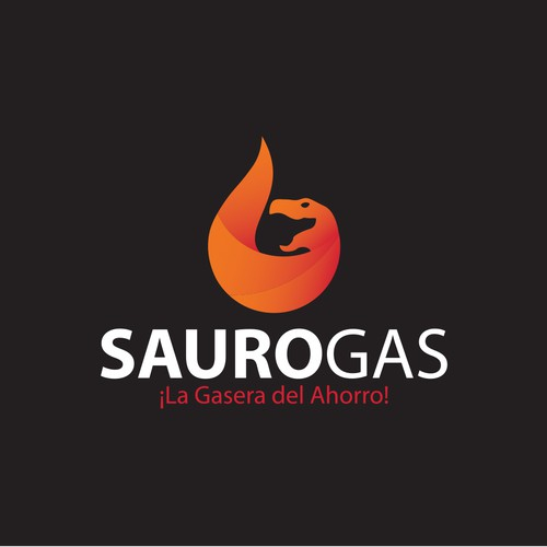 Bold and modern logo for sauro gas