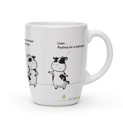Funny vegan mugs