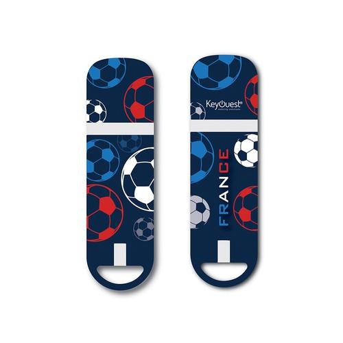 Create the KeyOuest's new USB key design - Créer le design de la nouvelle clé USB France de KeyOuest