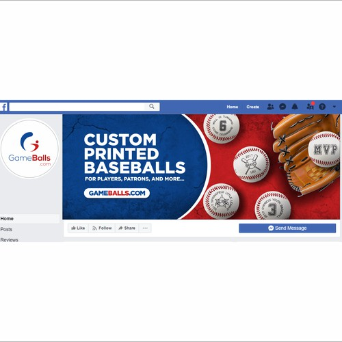 GameBalls Facebook Cover