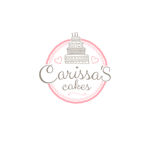 create a fun but elegant cake logo to make me stand out