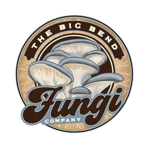 Hand-drawn logo for Mushroom company