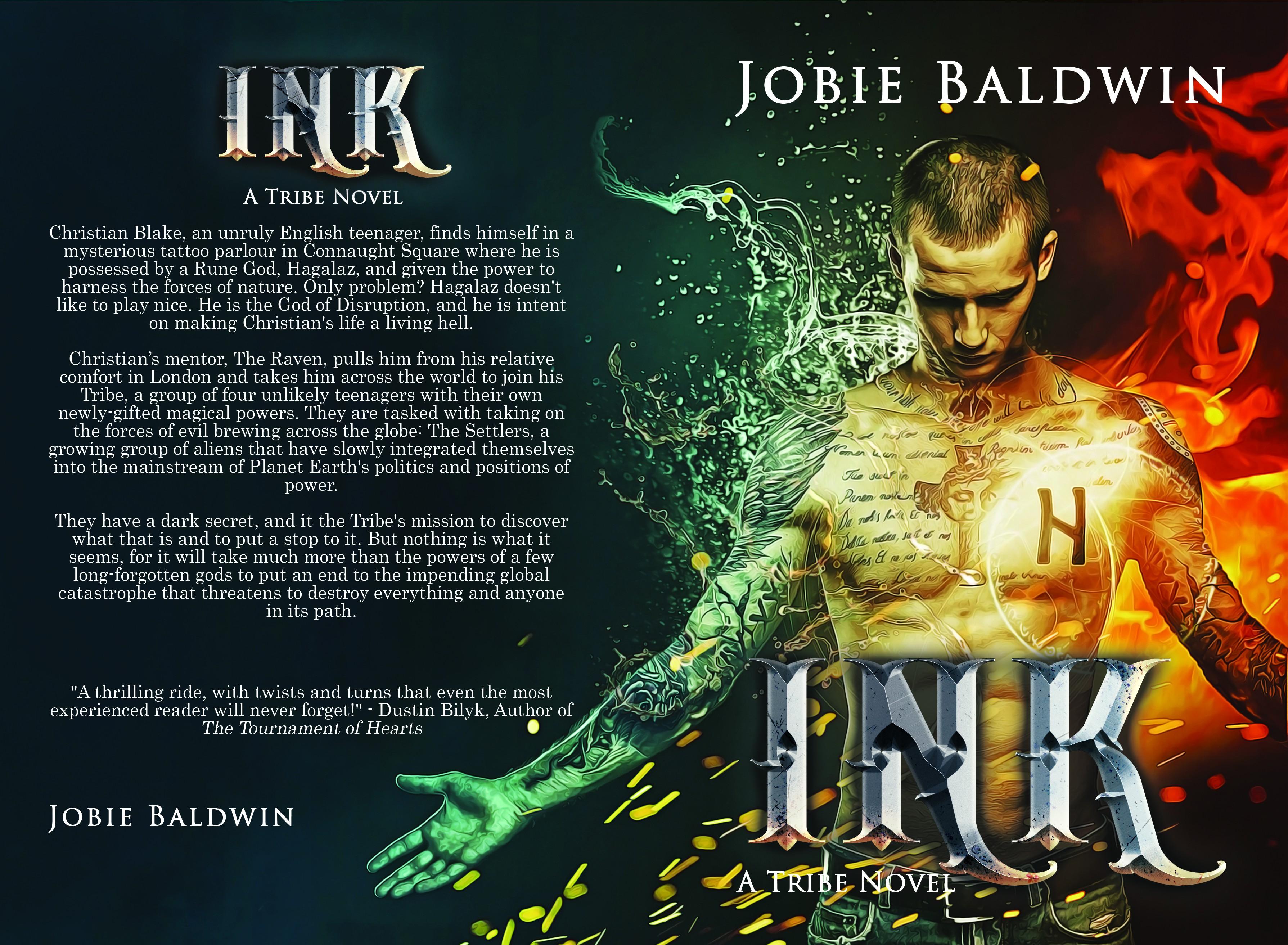 Design a book cover for YA urban fantasy novel INK