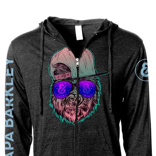 Illustratetd Design for the hoodie