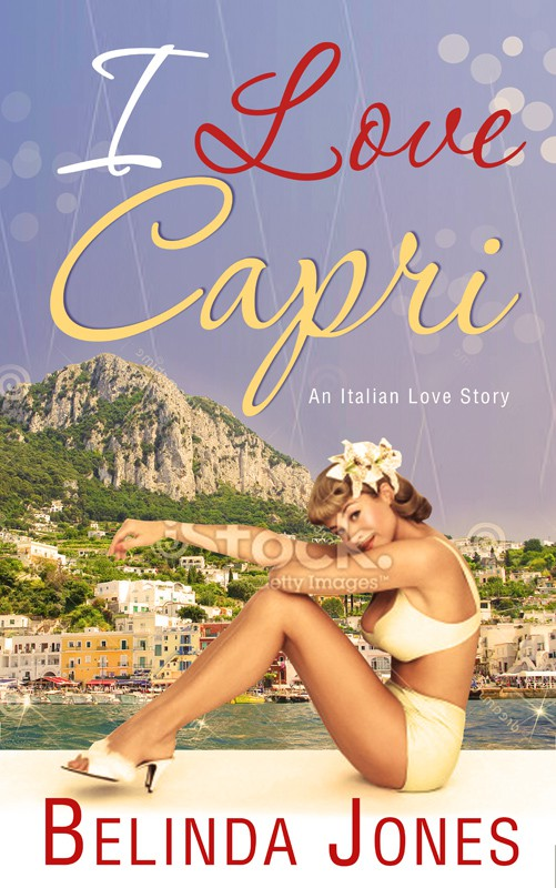 Design a gorgeous book cover for a romantic comedy set in Capri, Italy