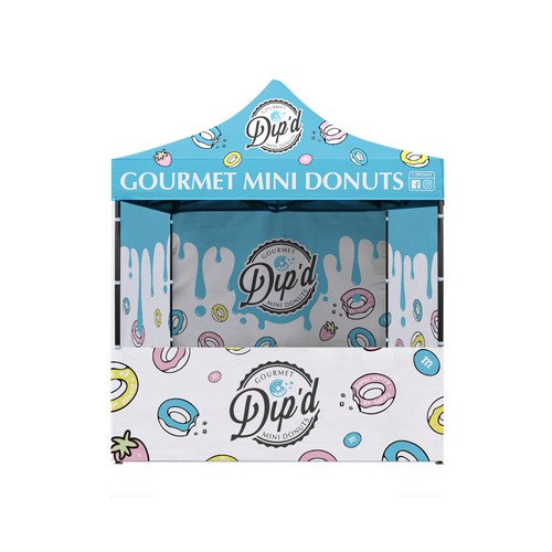 Dip'd Donuts - Folding Marquee design