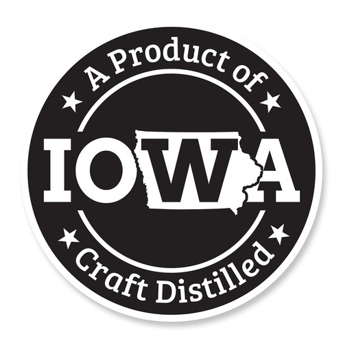 Made in Iowa Sticker for North 40 Vodka
