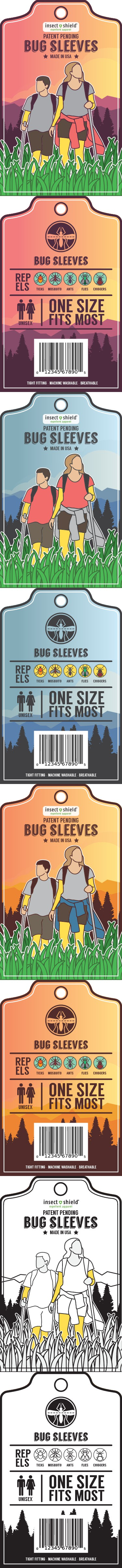 Clothing label for one of a kind Bug Repellent Arm & Leg sleeves