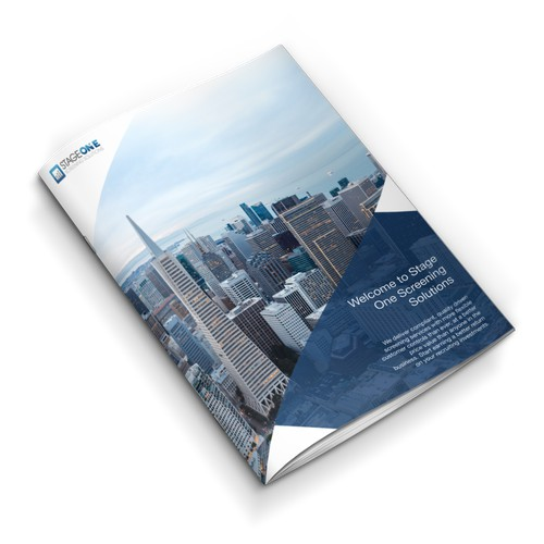 brochure designs for Stage One Screening Solutions