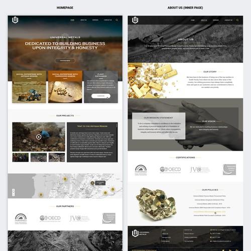 Website redesign for Universal Metals