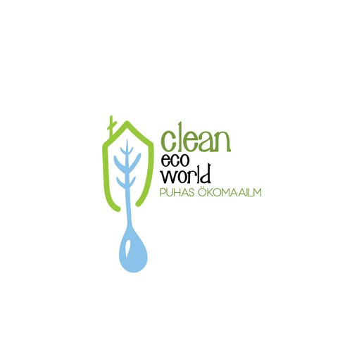 Eco firendly logo for Clean Eco World.
