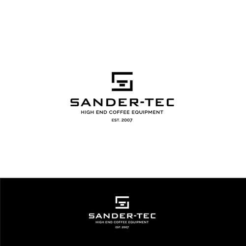 Modern logo for high-quality coffee equipment