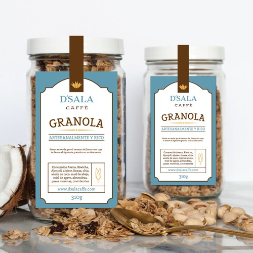 """Granola"" Label/Sticker for a glass"