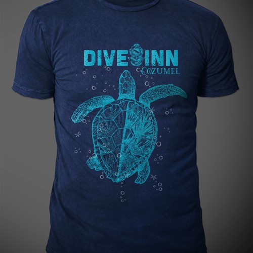 dive in t-shirt design