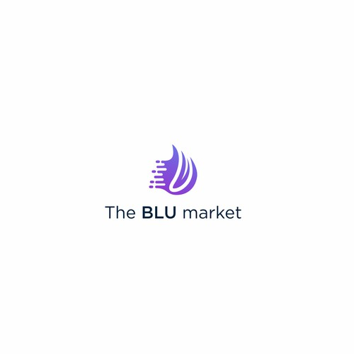 Revamp of the BLU market logo and font type