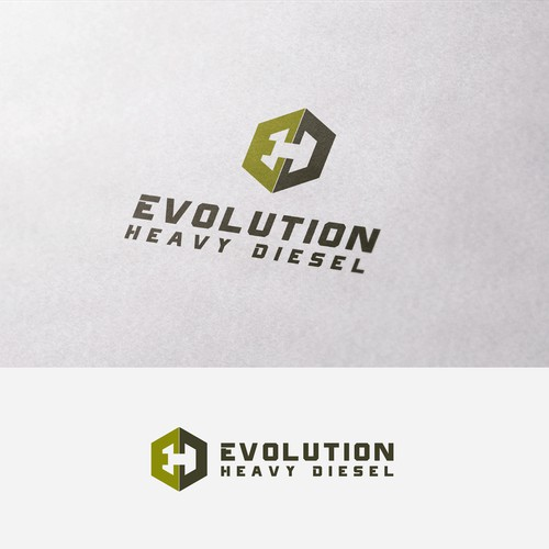 Simple, Clean and sharp logo for Evolution Heavy Diesel