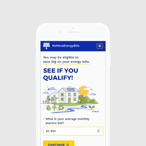 Responsive Landing Page For A Solar Version Of Homeadvisor