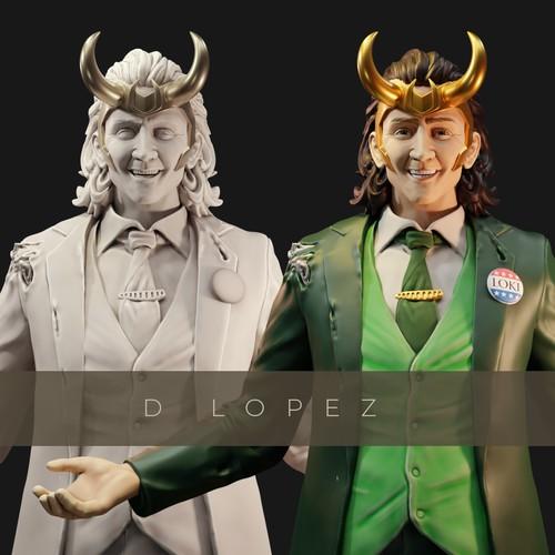president loki miniature (Tom Hiddleston)replica